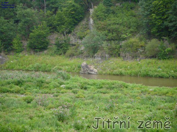 Pod hradem Veveří už dno pěkně zarostlo a z přehrady je opět řeka